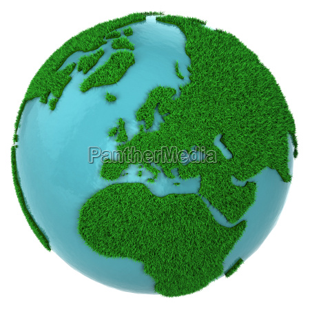 globe of grass and water europe
