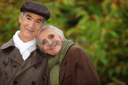 senior couple at autumn season
