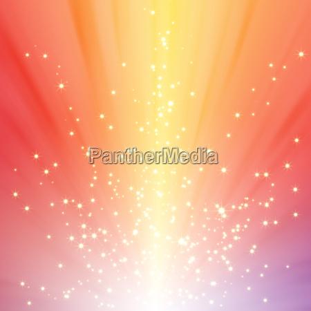 sparkling star on colorful burst background