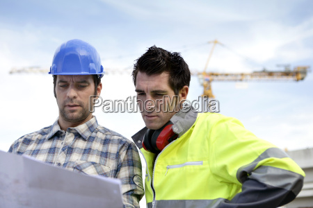 two supervisors on a construction site