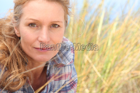 woman in long grass