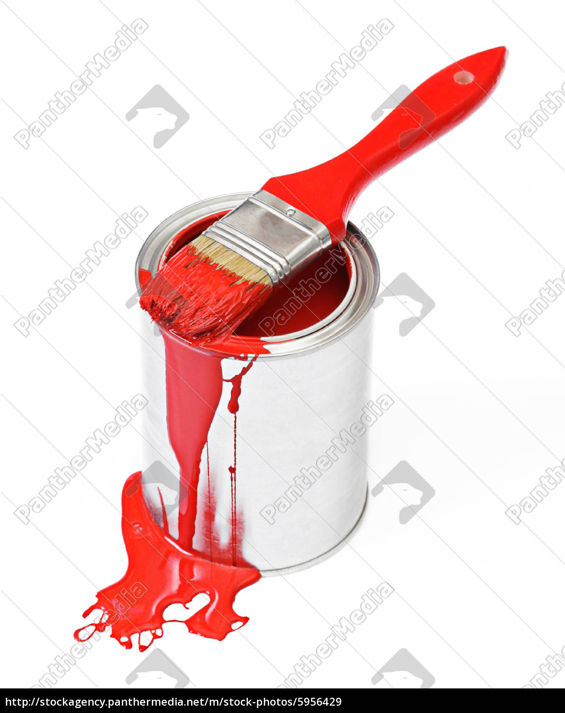 red, paint, bucket - 5956429