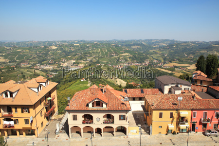 aerial view on houses in diano