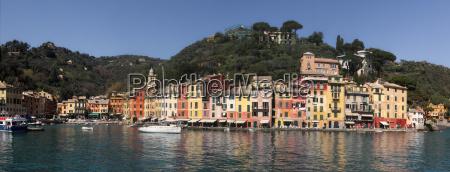panoramic view on bay and portofino