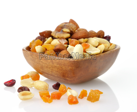 mixed dried fruit nuts and seeds