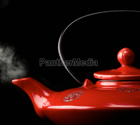 chinese red teapot