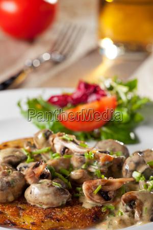 grzyb roesti pieczarka fladen kartofel ziemniak