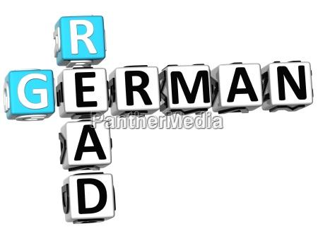 3d read german crossword