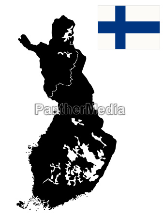 detailed map of finland