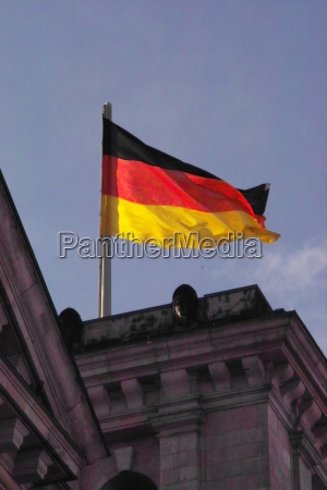 germany flag on the reichstag in