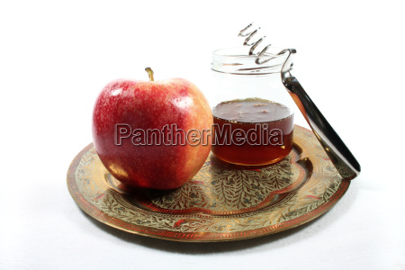 honey jar with apple