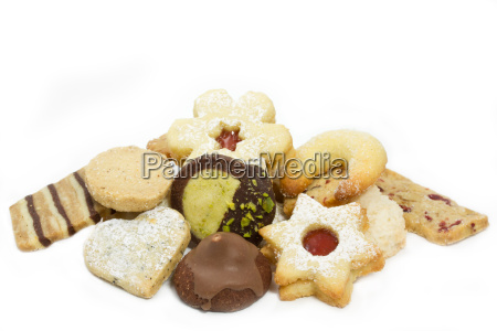 selection of christmas cookies
