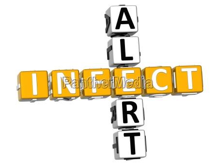 3d infect alert crossword
