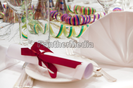 table decoration party