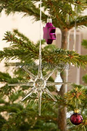 christmas tree ornaments as christmas motive
