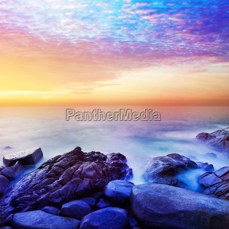 rainbow prime planet fantasy seascape square
