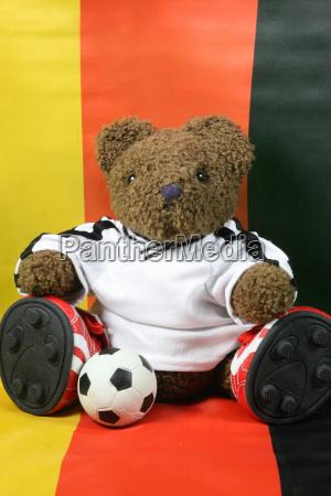 football teddy before germany flag