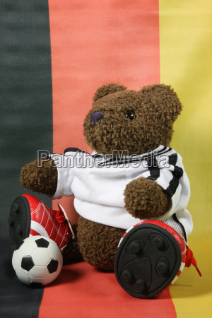 football teddy in front of germany