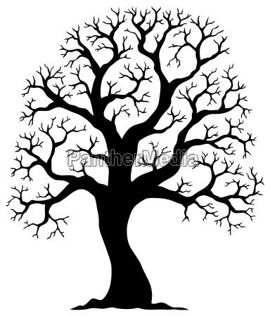 tree shaped silhouette 2