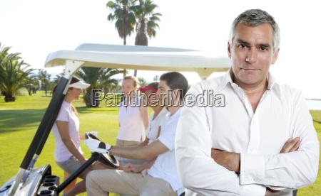 golf senior golfer man portrait in