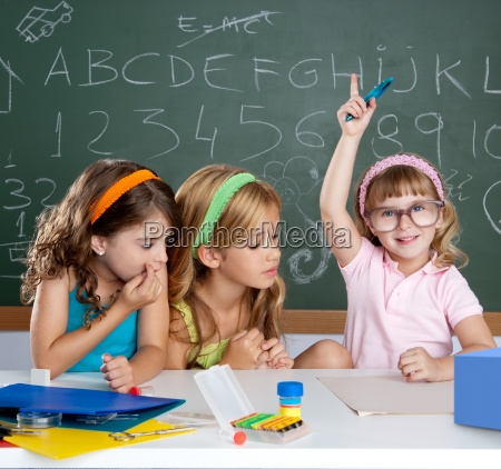 boring student with clever children