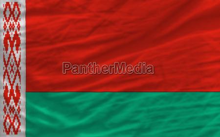 complete waved national flag of belarus