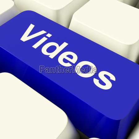 videos computer key in blue showing