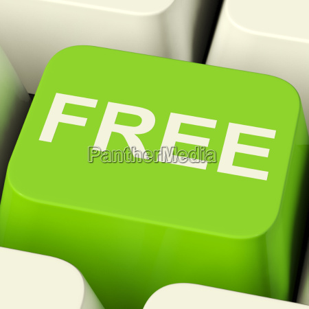free computer key in green showing