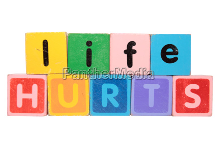 life hurts in toy blocks