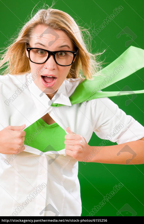 green, superhero, businesswoman, crazy, face - 6155256