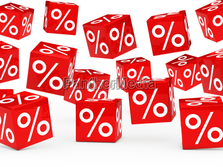red sale percent cubes
