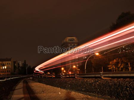 long term exposure of the railway