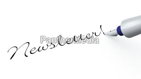 pen concept newsletter