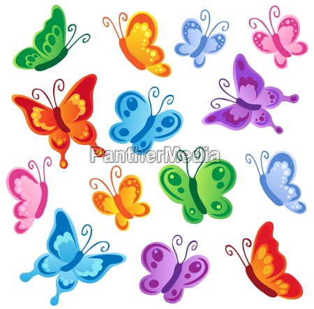 various butterflies collection 1