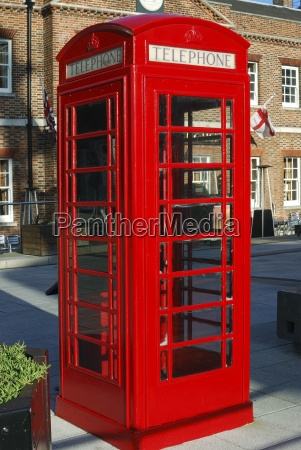 english red telephone box