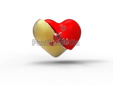 red and golden heart