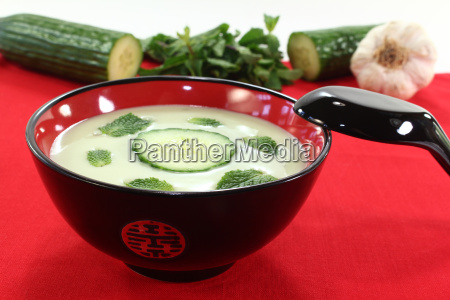 asian iced cucumber soup