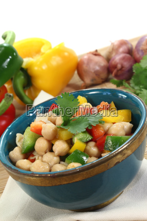 fresh asian chick pea salad