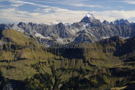 view from the nebelhorn summit on