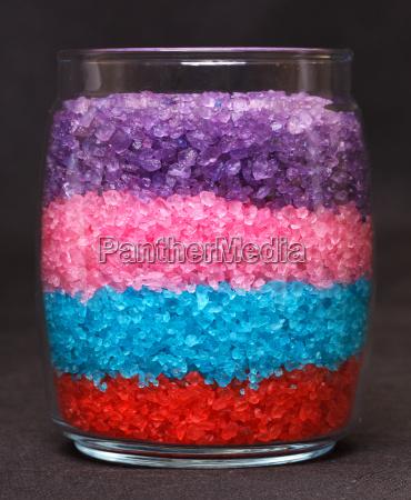 aromatic bath sea salt in jar