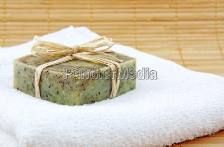 hand made soap in wellness still