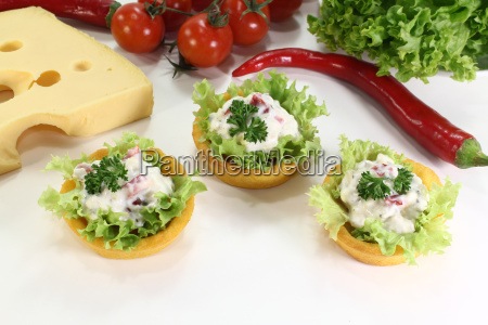 corn basket with cheese salad
