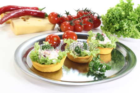 freshly baked corn basket with cheese
