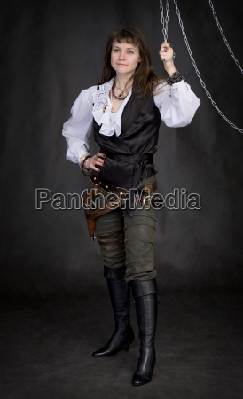 the girl pirate and metal