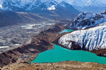 himalayas landscape ngozumpa glacier