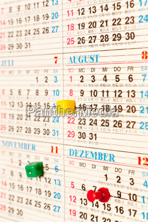 calendar date for planning with chinese