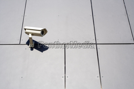 modern building and security camera