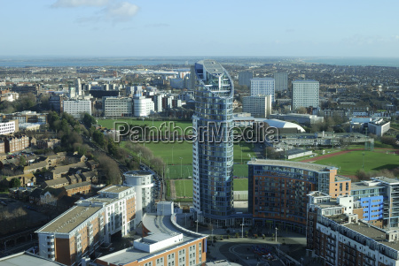 view across portsmouth hampshire england
