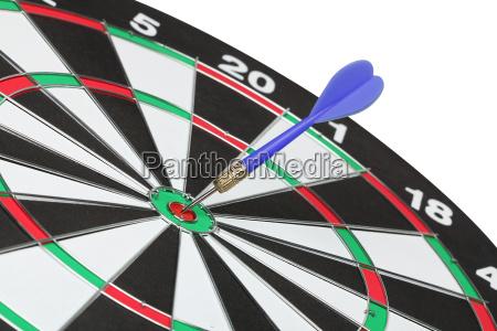 dartboard bullZs eye isolated on white