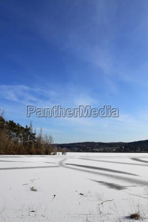 winter ice nature sanctuary dam